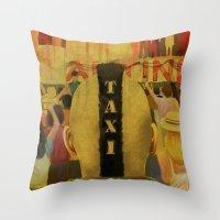 Taxi Driver Throw Pillow