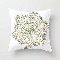 Ornato En Sepia Throw Pillow