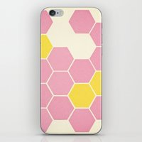 Pink Honeycomb iPhone & iPod Skin