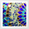 mosaic and beads [photograph] Art Print