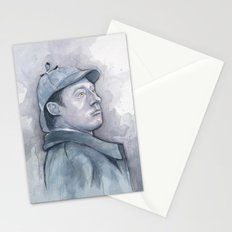 Data as Sherlock Holmes Watercolor Stationery Cards