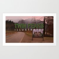 Road Sign Twin Peaks Wit… Art Print