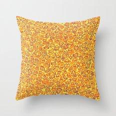 Mini monster doodle Throw Pillow