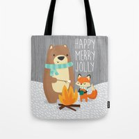 Happy Merry Jolly Tote Bag