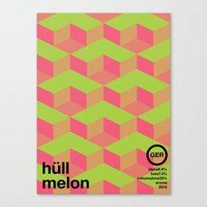 hull melon single hop Canvas Print