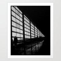 Waiting at the Airport Art Print