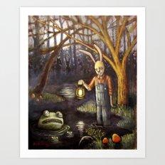 Swamp Bunny Art Print
