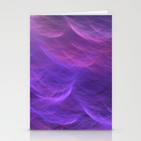 Pink And Purple Soft Wav… Stationery Cards