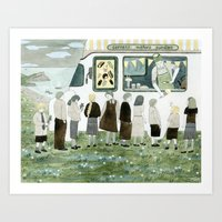 Ice Cream Queue Art Print