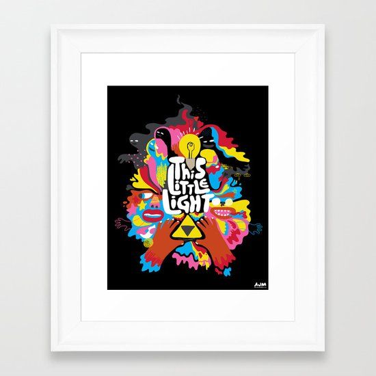 'This Little Light' Giclee Print Framed Art Print