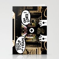 ALONE ON A NIGHT TRAIN Stationery Cards