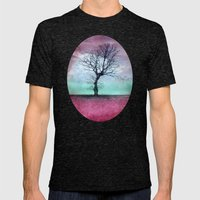 ATMOSPHERIC TREE - Winter Sun Mens Fitted Tee Tri-Black SMALL