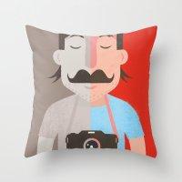 Moustachu Throw Pillow