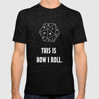 D20  Mens Fitted Tee Tri-Black SMALL
