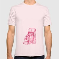 Camera Sketch 2 Mens Fitted Tee Light Pink SMALL