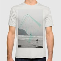 The Oregon Coast Mens Fitted Tee Silver SMALL