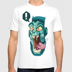 Zombie. SMALL Mens Fitted Tee White