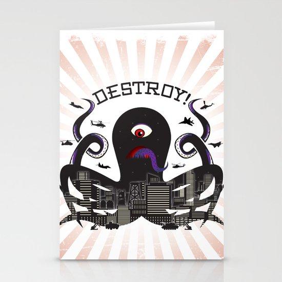 DESTROY! Stationery Card