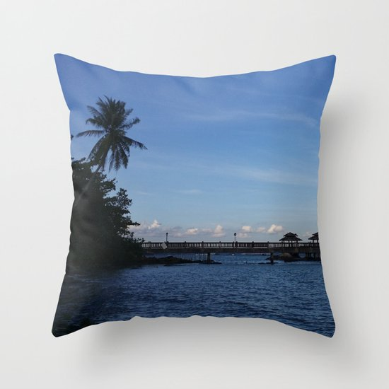 IT'S BLUE OUT THERE Throw Pillow