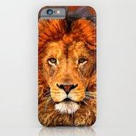 Old Lion Digital Art Pai… iPhone 6 Slim Case