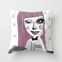 I think therefore I am... single Throw Pillow