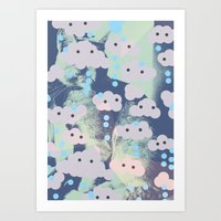 Milo With Clouds Art Print