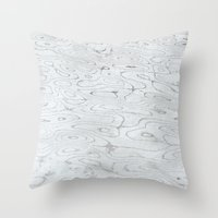 rippled liquid marble Throw Pillow