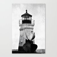B&W Lighthouse Canvas Print