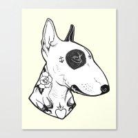 Bull Terrier Dog Tattooe… Canvas Print