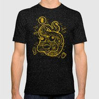 The Golden Eel (in yellow gold) Mens Fitted Tee Tri-Black SMALL