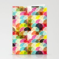 Circle Colorful Stationery Cards