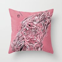 Vessel of Woman Throw Pillow