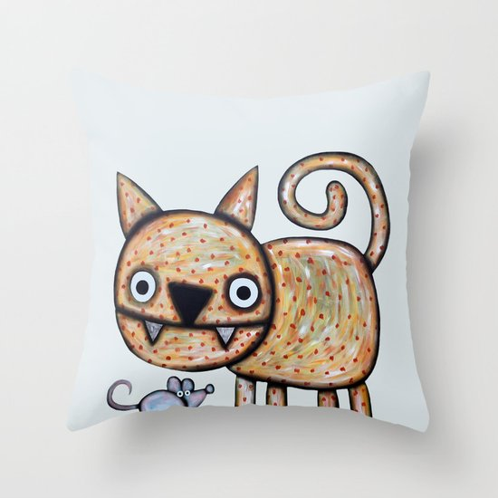 Secret meeting Throw Pillow
