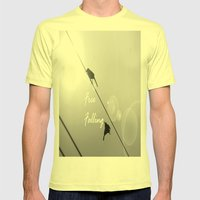 Free Falling Mens Fitted Tee Lemon SMALL