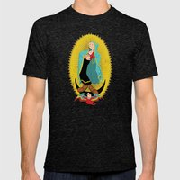 Virgin Olive Oyl Mens Fitted Tee Tri-Black SMALL