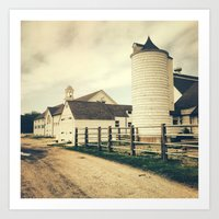 Dairy Farm. Art Print