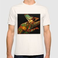 KARMA CHAMELEON Mens Fitted Tee Natural SMALL