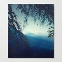 blue morning - vertical tapestry Canvas Print