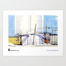 """Shari Blaukopf, """"Water Tower"""" Art Print"""