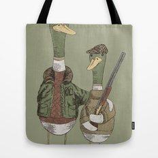 Hunting Ducks Tote Bag