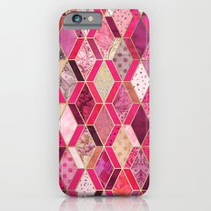 Wild Pink & Pretty Diamond Patchwork Pattern iPhone 6 Slim Case