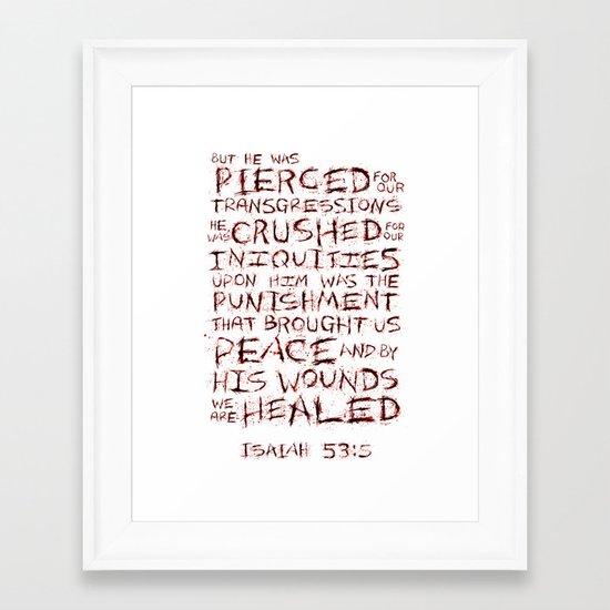Our Sin, His Sacrifice Framed Art Print
