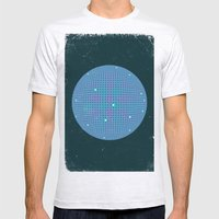 Sphere Blue Mens Fitted Tee Ash Grey SMALL