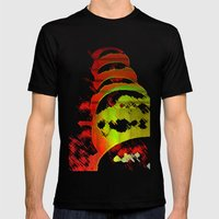 Winter Apples  Mens Fitted Tee Black SMALL