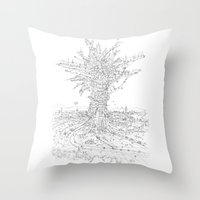 L' Albero Antropizzato Throw Pillow