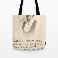 The Quote And The Photog… Tote Bag