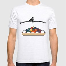 Pool Playa Mens Fitted Tee Ash Grey SMALL