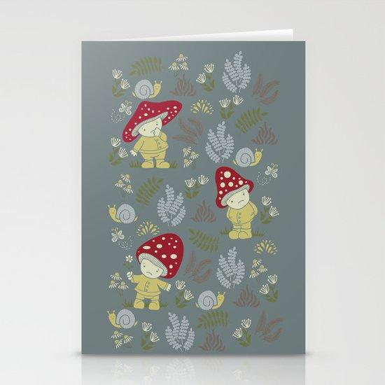 Melancholy Mushrooms Stationery Card