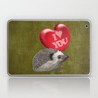 Hedgehog In Love With A … Laptop & iPad Skin