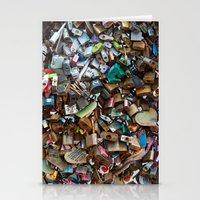 Wall of Love Locks Stationery Cards